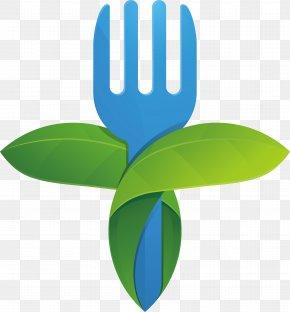Green Dining Meal Fork Material Design - Green Fork Designer PNG