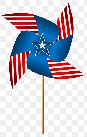USA Pinwheel Transparent Clip Art Image - Flag Of The United States Clip Art PNG