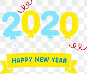 Logo Yellow - Happy New Year 2020 Happy 2020 2020 PNG