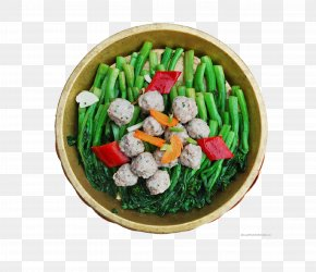 Cauliflower And Meatballs - Meatball Vegetarian Cuisine Beef Ball Asian Cuisine PNG