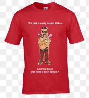 Printed T Shirt Red - Long-sleeved T-shirt Hoodie Gildan Activewear PNG