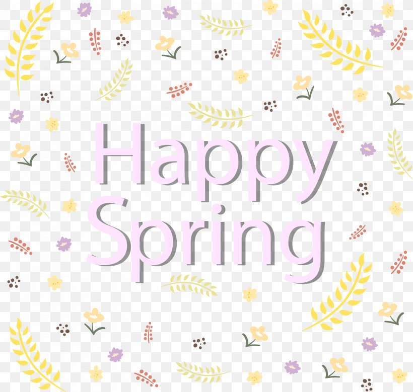 Happy Spring Text, PNG, 3105x2952px, Paper, Area, Lilac, Material, Number Download Free