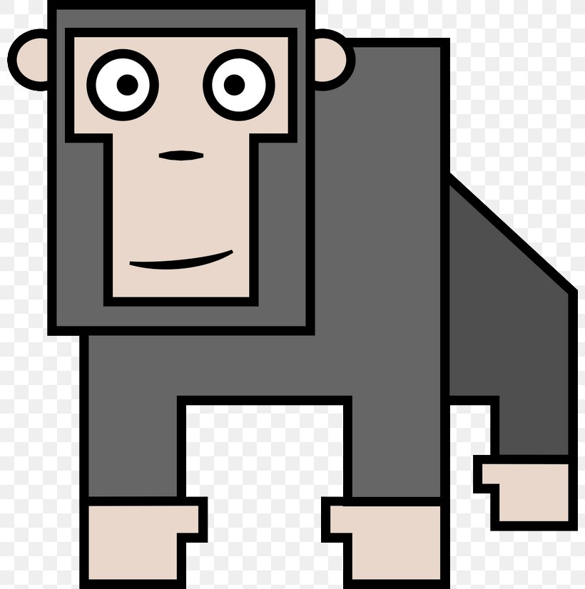 Western Gorilla Ape Orangutan Clip Art, PNG, 800x826px, Western Gorilla, Animal, Ape, Area, Artwork Download Free