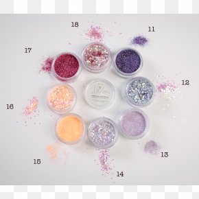 Silver Sequins - Glitter Cosmetics Lip Balm Face Powder PNG