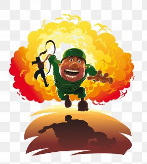 Cartoon Battlefield Soldiers - Explosion PNG
