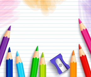 School Background With Pencils - Forest Grove School District Background Check Student PNG