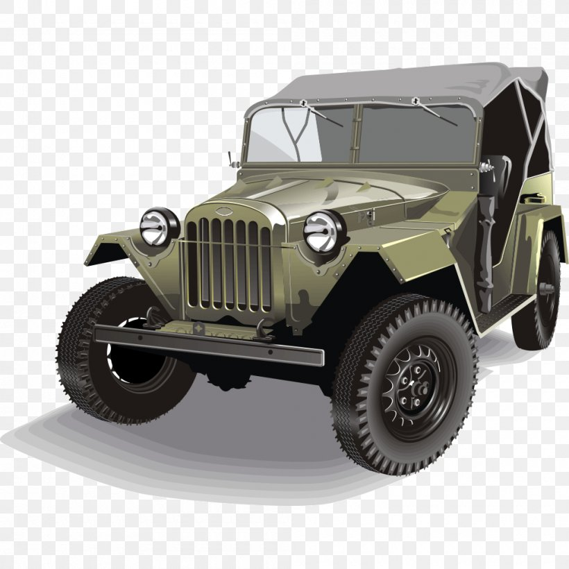 Jeep Car Willys MB Off-road Vehicle, PNG, 1000x1000px, Jeep, Automotive Design, Automotive Exterior, Automotive Tire, Brand Download Free