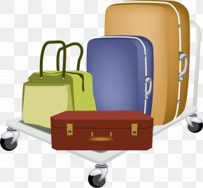 Suitcase - Baggage Cart Travel Suitcase Hand Luggage PNG
