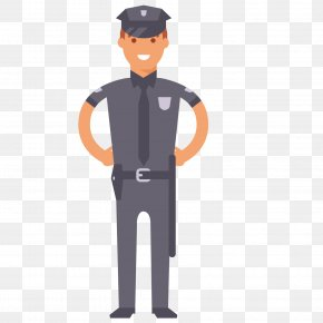 A Uniformed Policeman - Police Officer Royalty-free Euclidean Vector Illustration PNG