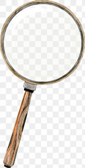 Brown Creative Magnifying Glass Frame - Magnifying Glass Loupe PNG