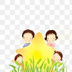 Family - Family Cartoon Drawing Illustration PNG