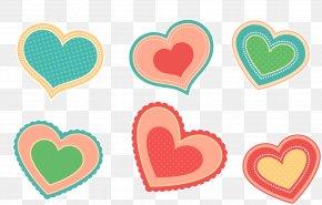 Color Love Sticker Button - Paper Sticker Love Heart PNG