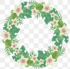 Small Fresh White Flower Wreath - Flower Wreath PNG