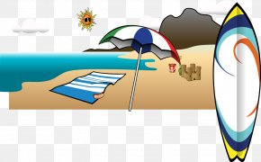 Vector Beach - Summer Vacation Clip Art PNG