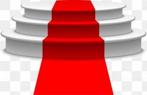 Red Carpet Ladder - Light Podium Red Carpet PNG