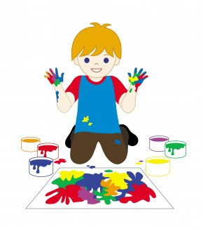 Paint Cliparts - Painting Child Fingerpaint Clip Art PNG
