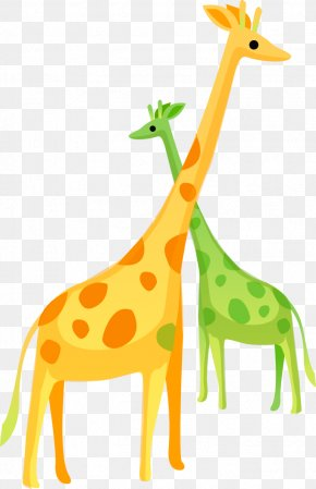 Cute Cartoon Giraffe - Northern Giraffe Yellow Cartoon Clip Art PNG