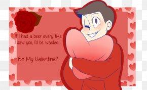 Valentine's Day - Valentine's Day Osomatsu-kun Choromatsu Art Greeting & Note Cards PNG