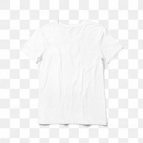 White T-shirt - T-shirt Shoulder Blouse Sleeve White PNG
