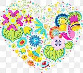 Visual Arts Sticker - Pattern Heart Sticker Visual Arts PNG
