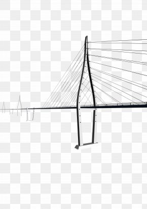 Bridge - Line Angle Point Black And White Area PNG