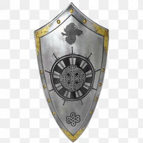Knight Shield - King Arthur Uther Pendragon Round Table Shield Knight PNG