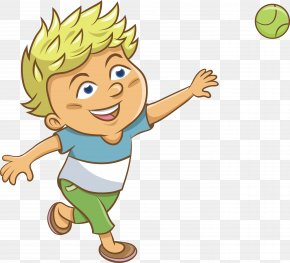 Throw A Ball Boy Vector - Ball Boy Clip Art PNG