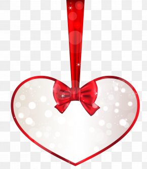 Red And White Heart Decor PNG Clipart - Heart Valentine's Day Clip Art PNG