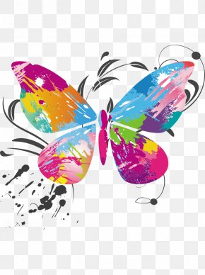 Vector Butterfly Color - Butterfly Color Euclidean Vector PNG
