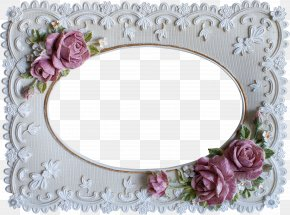 Purple Flowers Photo Frame - Picture Frame Photography Computer File PNG
