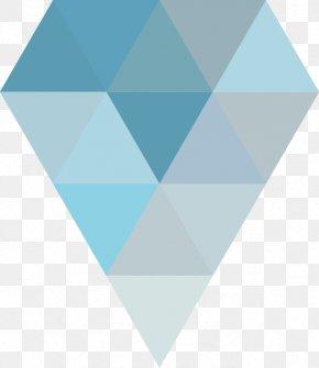 Blue Triangle Collage Diamond Shape - Blue Triangle Shape PNG