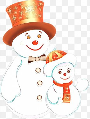 Smile Cartoon - Snowman PNG