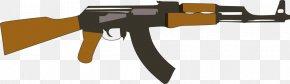 Ak 47 - AK-47 Silhouette Firearm Clip Art PNG