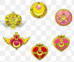 Sailor Moon - Sailor Moon Sailor Mercury Tuxedo Mask Sailor Jupiter Brooch PNG