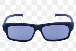 Blue 3D Glasses - Goggles Sunglasses Fashion Accessory Ray-Ban Wayfarer PNG