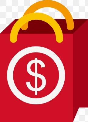 Vector Red Shopping Bags - Reusable Shopping Bag PNG