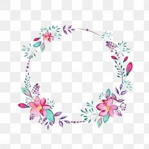 Wreath Wildflower - Pink Flower Cartoon PNG