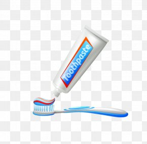 Toothpaste And Toothbrush - Toothbrush Toothpaste Borste Photography PNG
