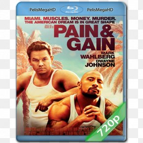 Dwayne Johnson - Dwayne Johnson Mark Wahlberg Pain & Gain Film Poster PNG