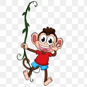 Swinging Rabbit - Chimpanzee Gorilla Ape Monkey PNG