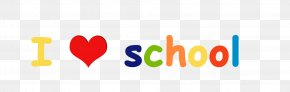 I Love School - School Supplies Colored Pencil Marker Pen First Day Of School PNG
