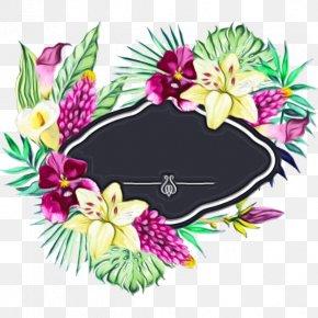 Plant Flower Garden - Watercolor Floral Background PNG