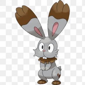 Hand Painted Rabbit,lovely,Acting Cute,Cartoon Bunny - Pokxe9mon X And Y Pokxe9mon Sun And Moon Bunnelby PNG