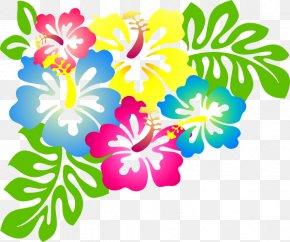 Hawaii Flores - Hawaiian Luau Clip Art PNG