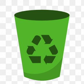 Recycle - Recycling Bin Recycling Symbol Green Bin Waste Container PNG