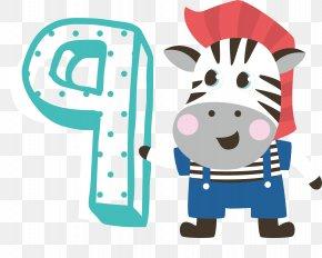 Digital Art Word Animal Cartoon Poster Promotional Material - Cartoon Numerical Digit Illustration PNG