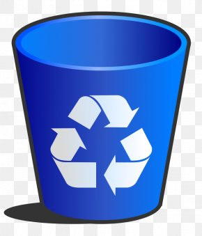 Cartoon Trashcan - Paper Recycling Bin Waste Container Clip Art PNG