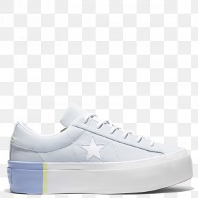 Blue Denim High Top Converse Shoes For Women - Sports Shoes Chuck Taylor All-Stars Converse One Star Platform Ox Women's PNG