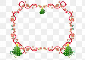 Christmas Border - Santa Claus Candy Cane Vector Graphics Christmas Day Borders And Frames PNG
