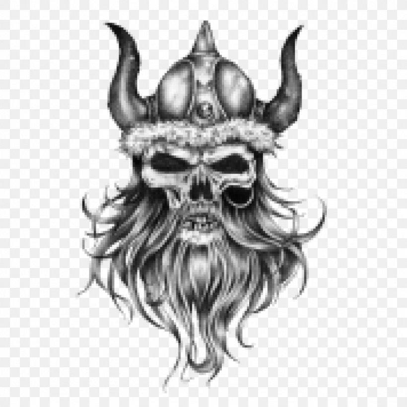 Tattoo Drawing Human Skull Symbolism Viking Art, PNG, 1024x1024px, Tattoo, Art, Art Museum, Black And White, Blackandgray Download Free